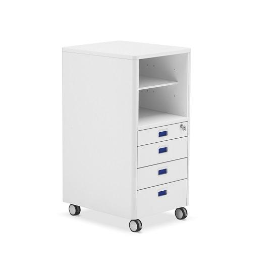 Moll Rollcontainer Cubicmax Weiss Blau